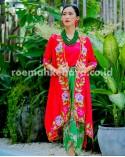 Kebaya Panjang Catleya Series – Shocking Pink