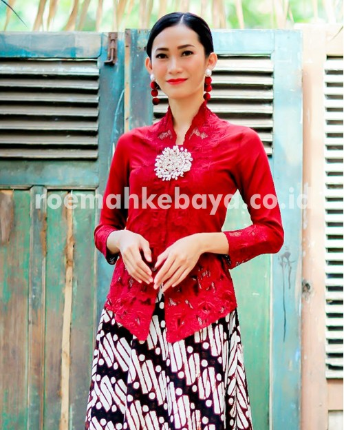 Catleya Long kebaya Series - Dark Choco